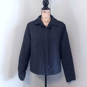 GAP Lightweight Black Puffer Button Up Jacket